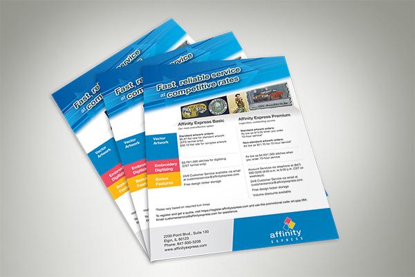 Affinity Express Price Sheet