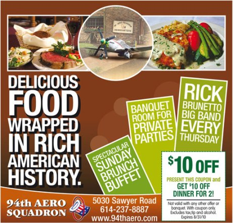 Print ad for restaurant