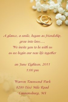 Wedding invitation designed by Affinity Express