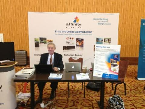 The Affinity Express Booth at the Key Executives Mega Conference 2012