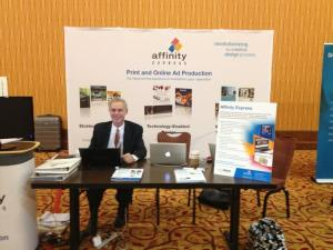 The Affinity Express booth at the Mega Conference 2012