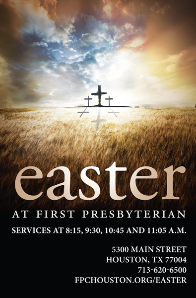 Ad for Easter service at a church