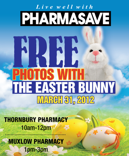 Ad for free photos with the Easter Bunny