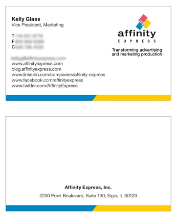 Business card consistent with our brand