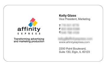 Clear and concise information on business card