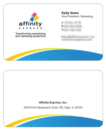 Business card design with refreshed brand