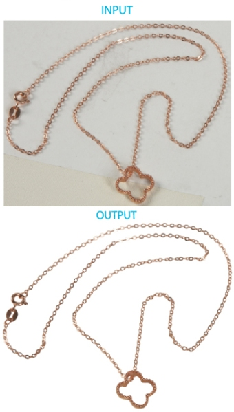 Image Editing: necklace with background removed