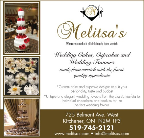 Ad for Melitsa's bakery and wedding cakes in traditional style