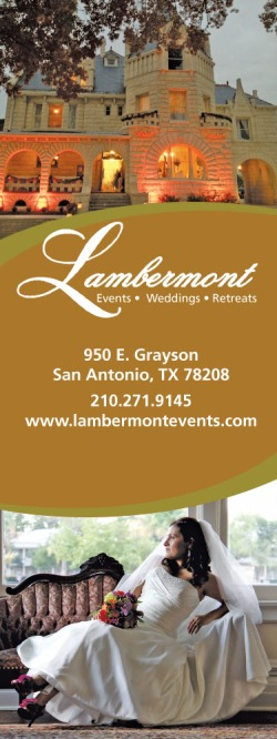 Wedding venue ad for Lambermont dramatic setting