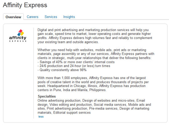 LinkedIn Page: Company Overview (the customized version)