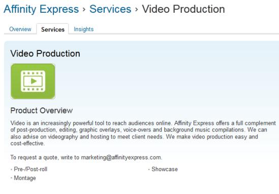 LinkedIn Product or Service Description