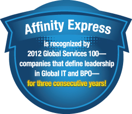 Affinity Express in 2012 Global Services 100