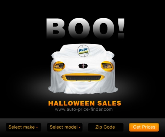 Halloween ad for Auto-Price-Finder