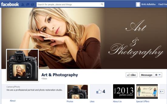 Facebook fan page 1