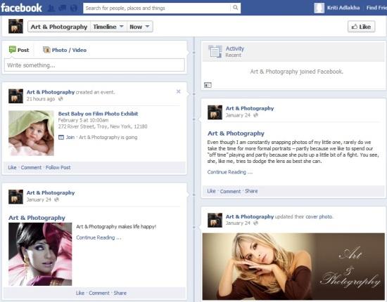 Facebook fan page 2