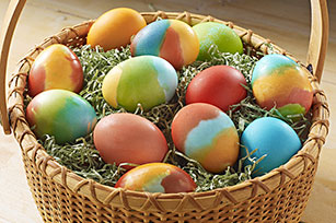 Kook-Aid Dyed Easter Eggs