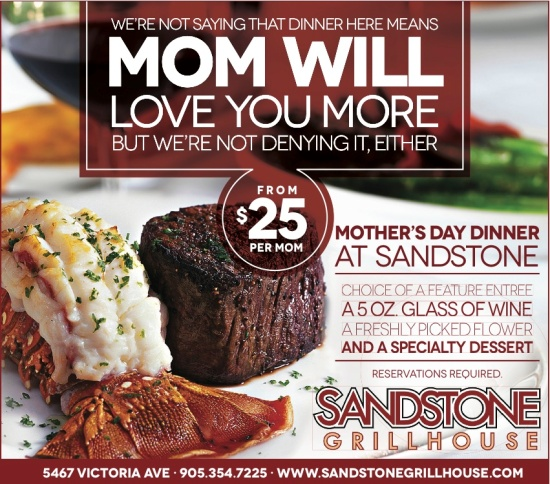 Sandstone Grillhouse Mother's Day Ad