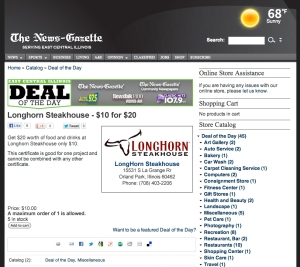 Longhorn Steakhouse Daily Deal