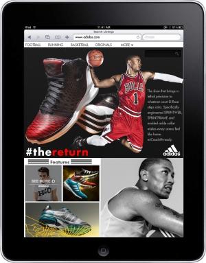 Adidas iPad Website
