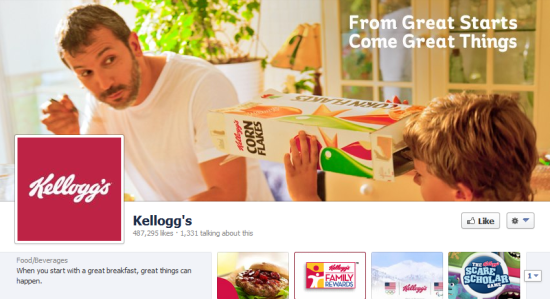 Kellogg's FB page
