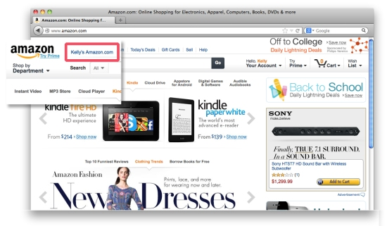 Personalized Amazon Site