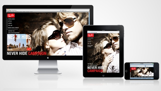 Ray-Ban Responsive Website
