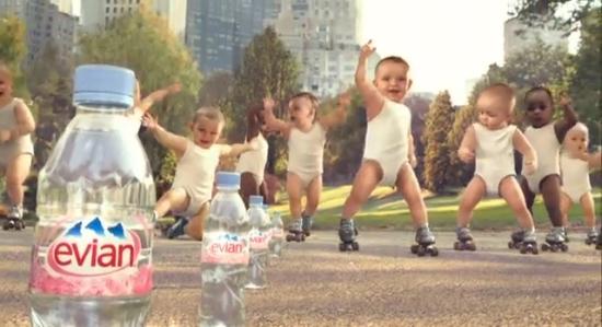 Evian Roller Babies Campaign