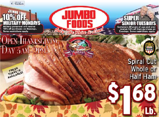 Jumbo Foods online Thanksgiving ad