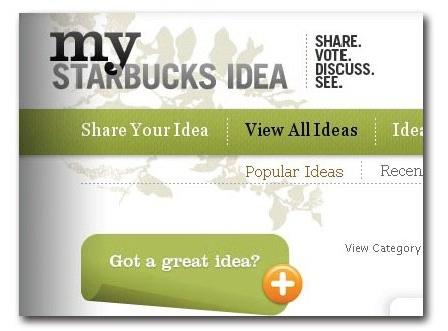 My Starbucks Idea Campaign