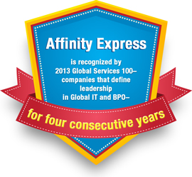 Affinity Express in 2013 Global Services 100